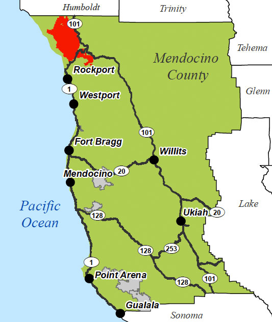 Location of Usal Redwood Forest   Redwood Forest Foundation