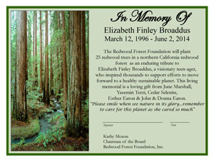 In Memory of Elizabeth Finley Broaddus