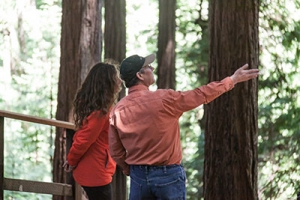 Linwood Gill, Chief Forester, Usal, and Leila Conners, Director, Tree Media