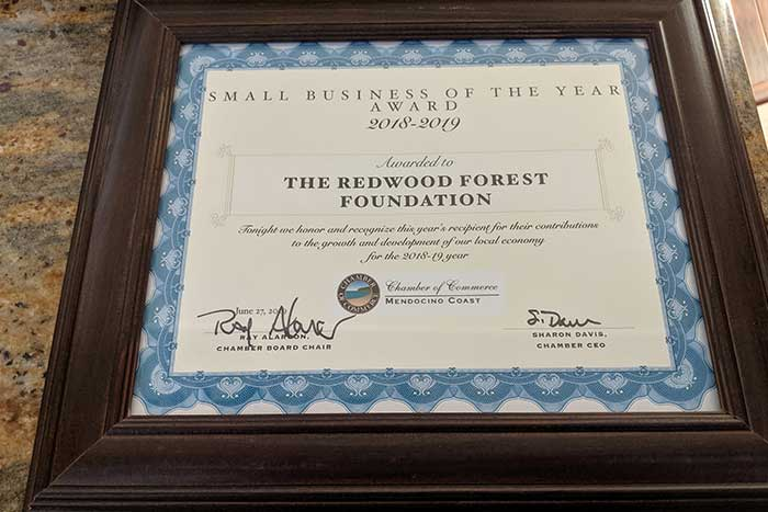RFFI Honored as Chamber's Small Business of the Year